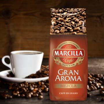 "MIXED COFFEE BEANS GRAN AROMA 1 KG ""MARCILLA"""