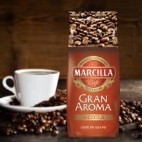 CAFÉ MÉLANGE EN GRAINS GRAN AROMA 1KG MARCILLA