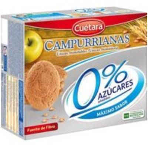 """GALLETAS CAMPURRIANAS 0% AZÚCARES """"CUÉTARA"""" (400 G)"""
