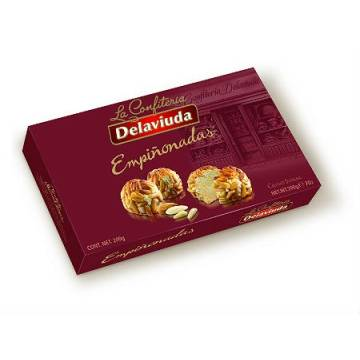 MARZIPAN COVERED BY PINE NUTS 200G DELAVIUDA