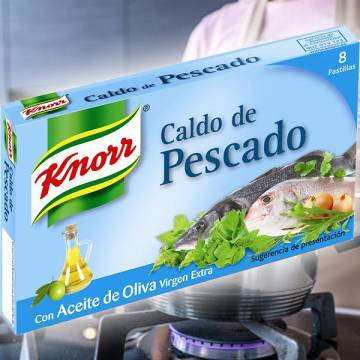 "FISH BROTH 8 CUBES ""KNORR"""