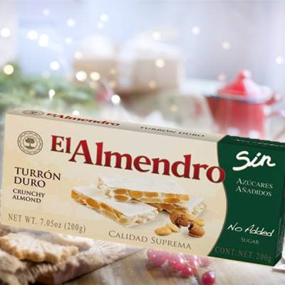 "HARD ALMOND TURRON WITHOUT SUGAR ""EL ALMENDRO"" (200 G)"