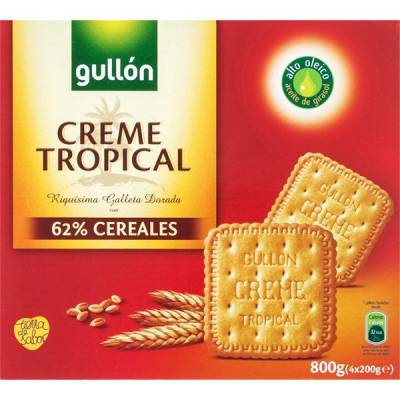 "GALLETAS DORADAS CREME TROPICAL ""GULLÓN"" (800 G)"