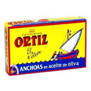 ANCHOAS EN ACEITE DE OLIVA 47,5G ORTIZ