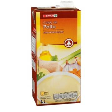 CHICKEN BROTH 1L SPAR