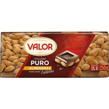 DARK CHOCOLATE WITH ALMONDS 250G VALOR