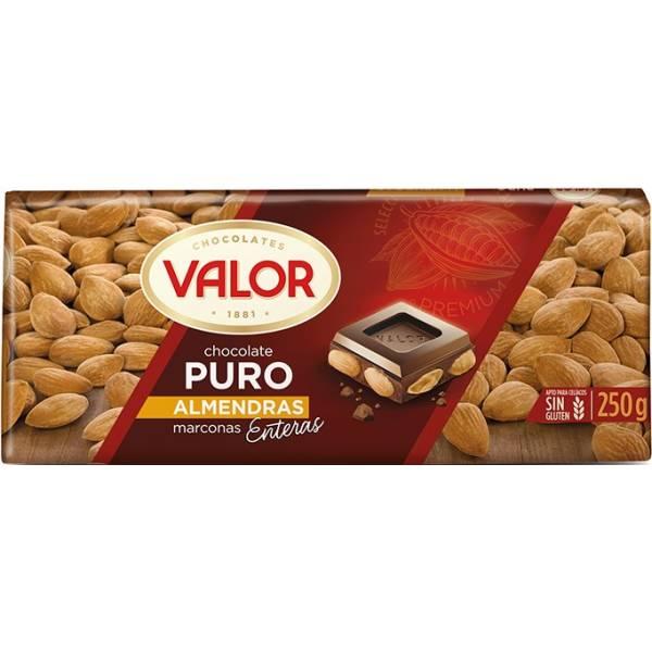 CHOCOLAT PUR AUX AMANDES 250G VALOR