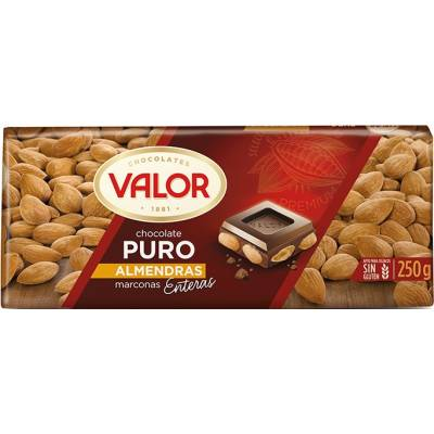 "CHOCOLATE PURO CON ALMENDRAS ""VALOR"""