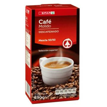 "DECAFFEINATED GROUND MIXED COFFEE 250 G ""SPAR"""
