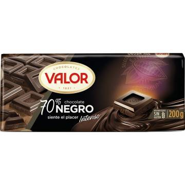 Chocolate negro 70% Valor 300 g.