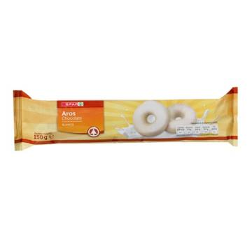 "WHITE CHOCOLATE RINGS ""SPAR"" (150 G)"
