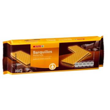 "WAFERS FILLED WITH CHOCOLATE FLAVOR ""SPAR"" (200 G)"