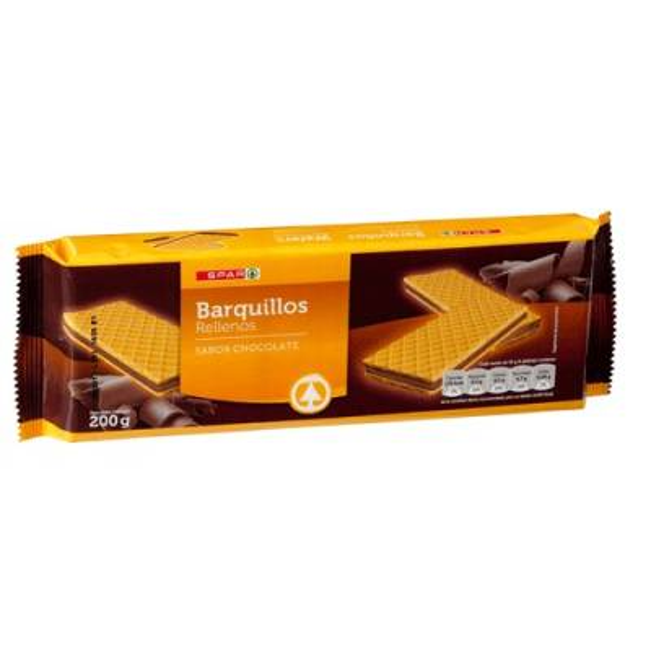 BARQUILLOS RELLENOS  SABOR CHOCOLATE SPAR