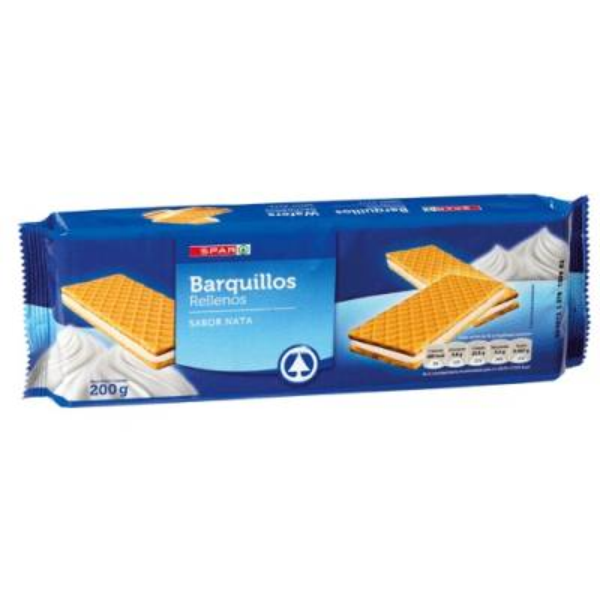 BARQUILLOS RELLENOS  SABOR NATA SPAR