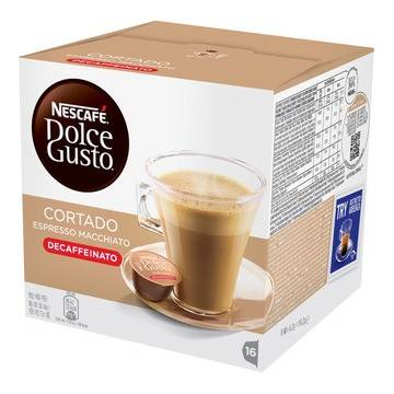 "SMALL DECAFFEINATED ESPRESSO WITH MILK X16 ""NESCAFÉ DOLCE GUSTO"""