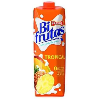 "BIFRUTAS TROPICAL (MILK + FRUIT) 1L ""PASCUAL"""