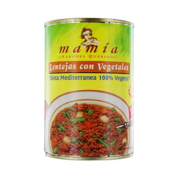 LENTILS WITH VEGETABLES 400G MAMÍA