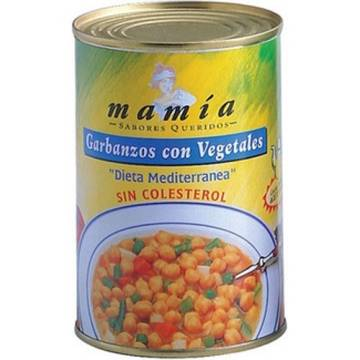 CHICKPEAS WITH VEGETABLES 400G MAMÍA