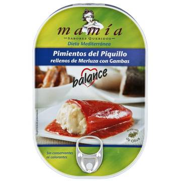 "PIQUILLO PEPPERS STUFFED WITH HAKE AND PRAWNS ""MAMÍA"""