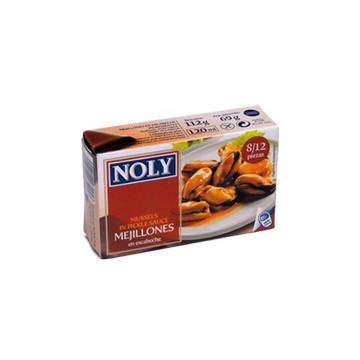 "MUSSELS IN PICKLE SAUCE 8/12 ""NOLY"""