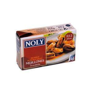 """MUSSELS IN PICKLE SAUCE 8/12 """"NOLY"""""""