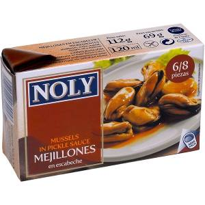 "MUSSELS IN PICKLE SAUCE 6/8 ""NOLY"""