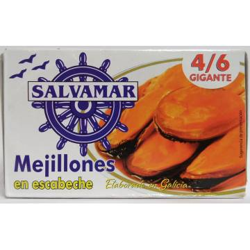 "MUSSELS IN PICKLE SAUCE 4/6 ""SALVAMAR"""