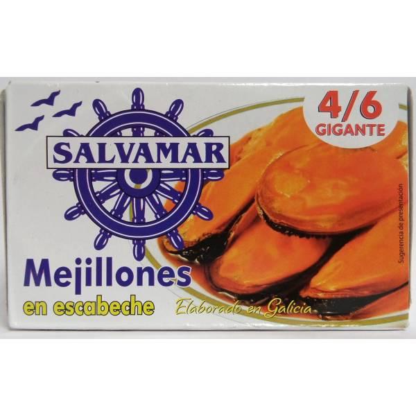 MEJILLONES EN ESCABECHE 4/6 SALVAMAR