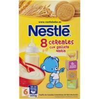 """""""8 cereales con galletas maria"""" Nestle"""
