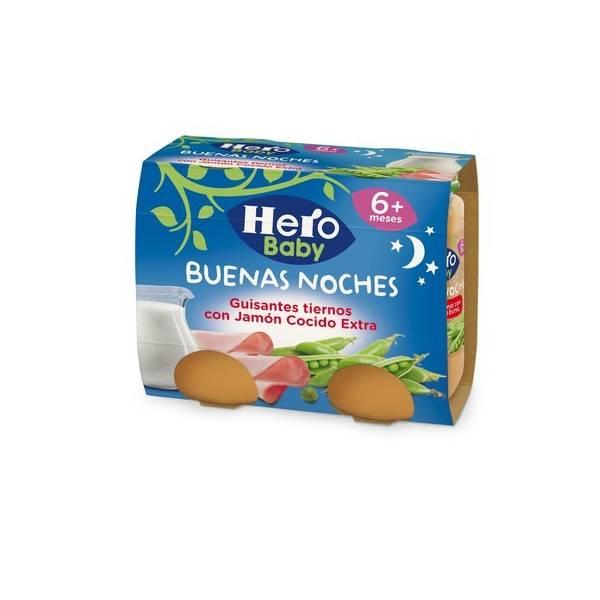 """GUISANTES TIERNOS CON JAMÓN COCIDO EXTRA """"BUENAS NOCHES"""" HERO BABY"""