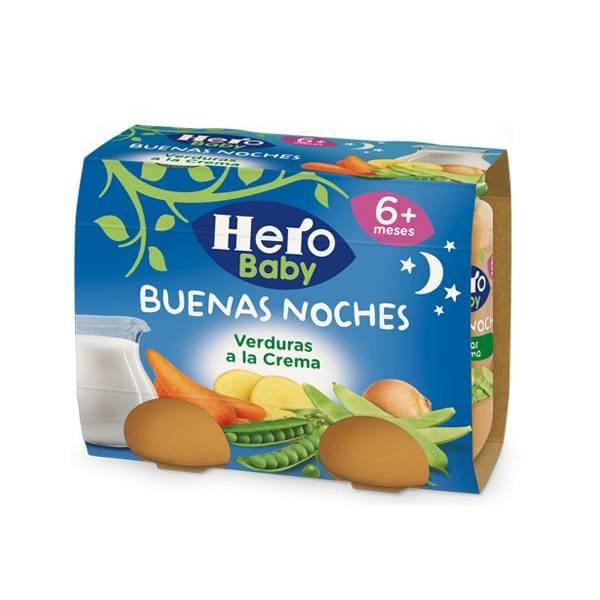 """VERDURAS A LA CREMA """"BUENAS NOCHES"""" HERO BABY"""