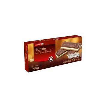 "THREE CHOCOLATES PRALINÉ TURRON ""SPAR"" (200 G)"