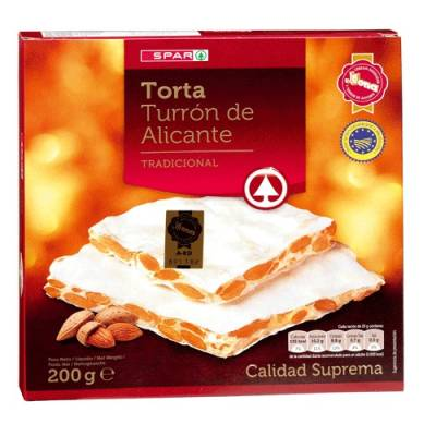 HARD ALMOND NOUGAT CAKE FROM ALICANTE 200G SPAR
