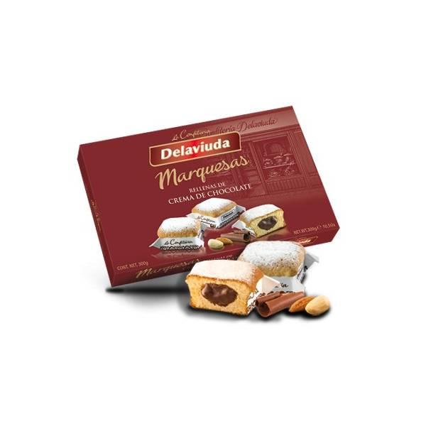 MARQUESAS RELLENAS DE CHOCOLATE 300G DELAVIUDA