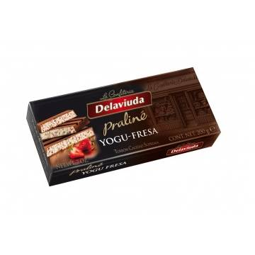 "YOGURT STRAWBERRY PRALINÉ TURRON ""DELAVIUDA"" (200 G)"