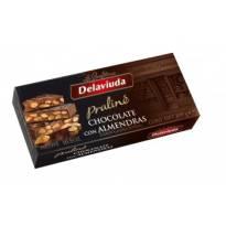 TURRÓN PRALINÉ CHOCOLATE CON ALMENDRAS DELAVIUDA (250 G)