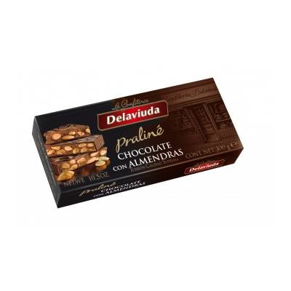 "CHOCOLATE ALMONDS PRALINÉ TURRON ""DELAVIUDA"" (250 G)"