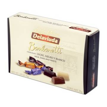 "BOMBONETTI MILK, DARK AND WHITE ""DELAVIUDA"" (70 G)"