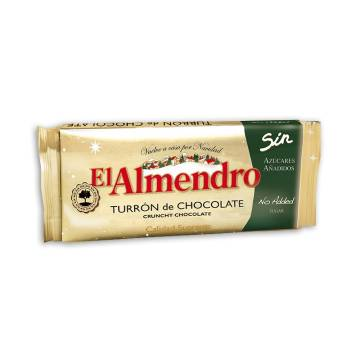 "CRUNCHY CHOCOLATE TURRON WITHOUT SUGAR ""EL ALMENDRO"" (200 G)"