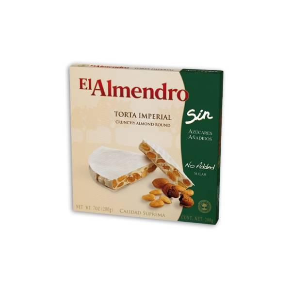 """WEISSER NUGAT-HART TORTE OHNE ZUCKER """"EL ALMENDRO"""" (200 G)"""