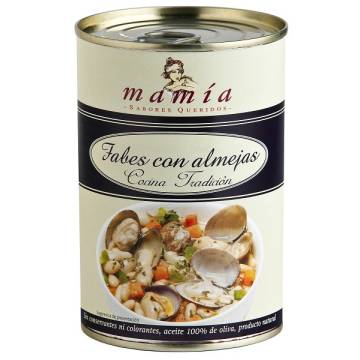WHITE BEANS WITH CLAMS 420G MAMÍA