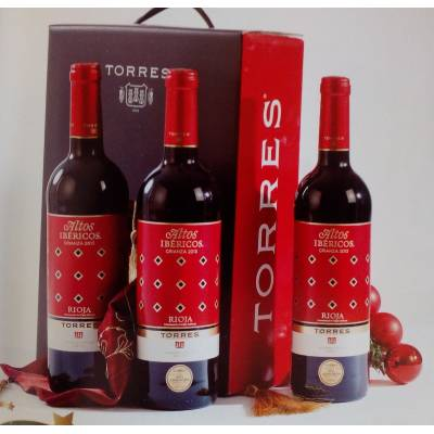 "BASKET WITH WINES ""TORRES"""
