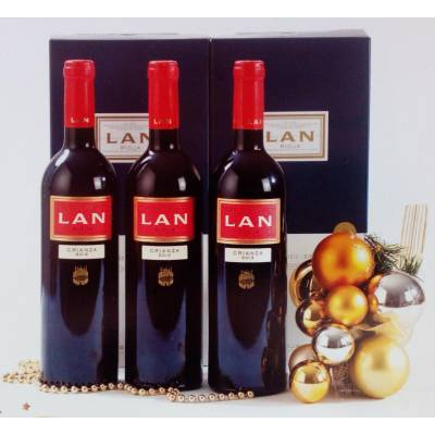 "BASKET WITH WINES ""LAN"""