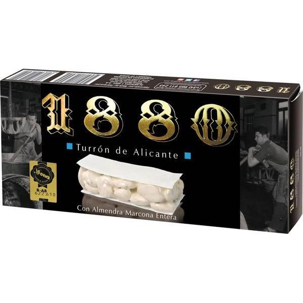 """HARD ALMOND TURRON ALICANTE -GLUTEN FREE- """"1880"""" (250 G)"""