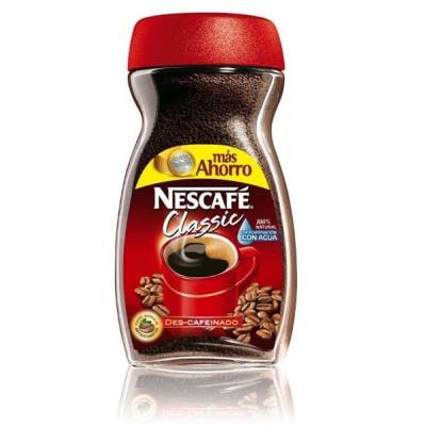 CAFÉ SOLUBLE DESCAFEINADO NESCAFÉ CLASSIC 200G NESTLÉ