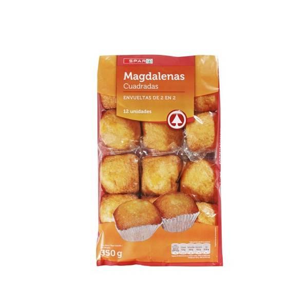 """MAGDALENAS, VIERECKIG SPANISCH CUPCAKE 12 EINHEITEN """"SPAR"""""""