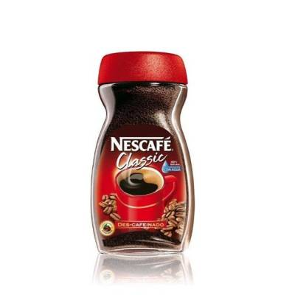 """DECAFFEINATED INSTANT COFFEE NESCAFÉ CLASSIC 100G """"NESTLÉ"""""""