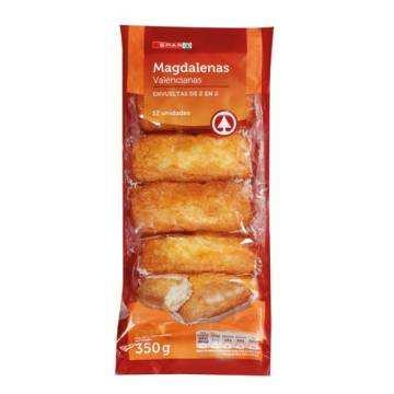 "MAGDALENAS, LONG SPANISH MUFFIN 12 UNITS ""SPAR"""