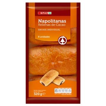 "CHOCOLATE NAPOLITANAS 8 UNITS ""SPAR"""