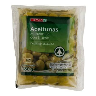 "WHOLE GREEN OLIVES ""SPAR"""